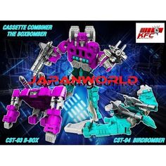 KFC CST-03/04 B-Box  BirdBomber set of 2 transformers masterpiece  KFC CST-03/04 B-Box  BirdBomber set of 2 transformers masterpiece ...