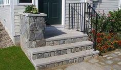 precast concrete steps - front porch update