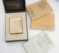 Vintage Dupont Lighter, Made in Paris, With Box and Case LIGHT101D