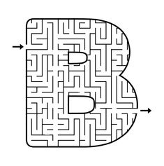 Maze: B (free printable) Letter Maze, Letter B, Printable Mazes, Free Printables, Mazes For Kids, Rita, English Alphabet, Maze Runner, Paper Toys