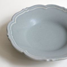 Flower Rim Plate S / Blue Mat Awabi ware 14004013S4 by Awabiware
