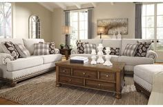 Get Ashley Furniture's Harleson Wheat Living Room Set from Coleman Furniture with included free delivery, in-home assembly, and a price match guarantee. New Living Room, Living Room Sets, Living Room Designs, Living Room Decor, Small Living, Ashley Living Room Furniture, Traditional Living Room Furniture, Modern Living, Living Area