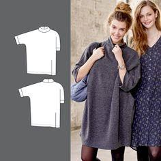 Oversize kjole Knitting Patterns, Sewing Patterns, Crochet Patterns, Oversized Dress, Dress First, Sewing Clothes, Dress Patterns, Dresses For Work, Couture