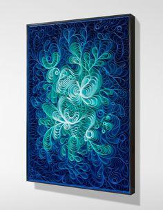 Atlantic View 36×48″ Sculpted canvas and acrylic paint on framed panel.  Artists: Jason Hallman, Stephen Stum