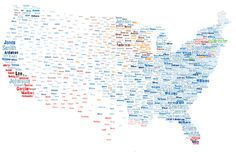 The Most Popular Surnames in the US by Area