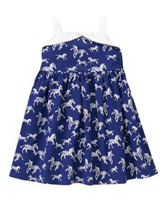 Look what I found on #zulily! Navy Zebra A-Line Dress - Infant, Toddler & Girls by Gymboree #zulilyfinds