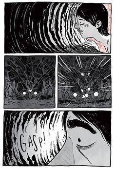 "Ryan Andrews :: ""The Tunnel"" Cloud Drawing, The Art Of Storytelling, Graphic Novel Art, Evil Art, Cool Art Drawings, Fanart, Manga Anime, Comic Panels, Cartoon Design"