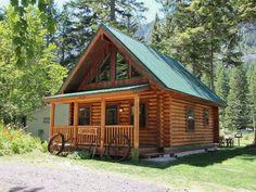 alaska, log cabin, log cabin view