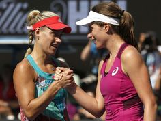 Johanna Konta's Australian Open dream finally came to an end as the world number 47 lost in straight sets to Germany's Angelique Kerber.
