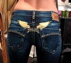 Robin's Wings brand jeans - cute wings