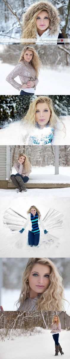 Model Jocelyn Morris took a snow day to update her Fashion and Beauty Portfolio