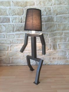 Unusual Desks modern wooden table lamp handmade desk lamp burnt wood round led