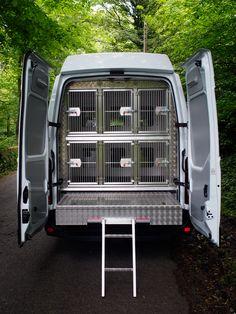 6 kennel Dog Training Vehicle