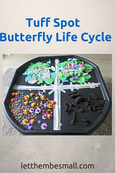 See the detail of our Butterfly LifeCycle tuff spot Eyfs Activities, Nursery Activities, Activities For Kids, Activity Ideas, Animal Activities, Science Ideas, Learning Activities, Outdoor Activities, Teaching Ideas