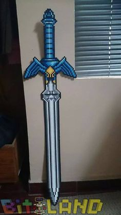 Perler beads Master Sword by BITland on DeviantArt