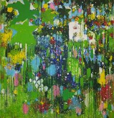 """""""In the Moroccan Garden,"""" original abstract painting by artist Christina Reiter (Germany) available at Saatchi Art #SaatchiArt"""