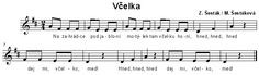 Včelka Sheet Music, Math Equations, Jar, Music Sheets, Jars, Glass