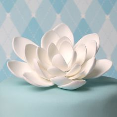 Lovely wedding cake with lotus Sugarflowers