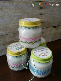 Homemade Sugar Scrub - Easy Gift Series