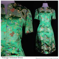 Vintage Oriental Dress Cheongsam Mandarin by MaterialCollections