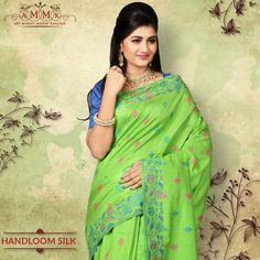 Presenting exclusive Handloom for your wear. Silk Sarees Online, Festive, Chiffon, Sari, How To Wear, Collection, Fashion, Silk Fabric, Saree