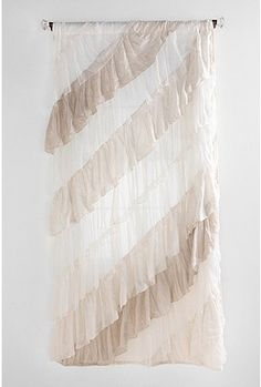 Ruffle curtain. Guest room?