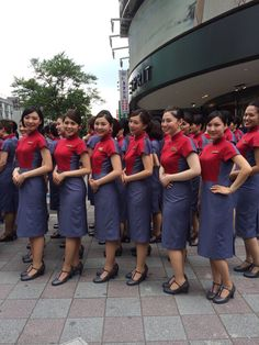 China Airlines cabin crew (new uniform)