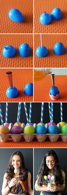 Easter Egg Popsicles tutorial
