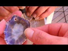 Como hacer agujeros en caracolas, conchas, mejillones y lapas
