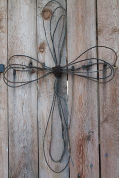 handmade rusted wire cross Christian wall decor by jackrabbitflats, $15.95