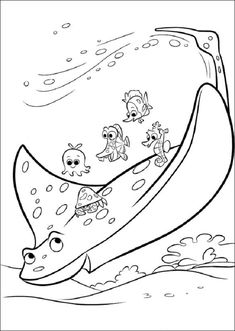 Finding Dory Coloring Pages For Kids 5