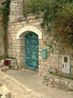 An average door in Safed, Israel