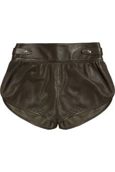 BELSTAFF Hyde perforated nappa leather shorts