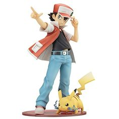 """Kotobukiya ARTFX J """"Pokemon"""" series Red with Pikachu 1/8 Scale Painted PVC figure -- Details can be found by clicking on the image. (This is an affiliate link) #ActionToyFigures"""