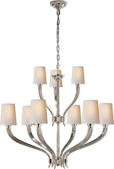 RUHLMANN 2-TIER CHANDELIER- I like this better than the 1 tier
