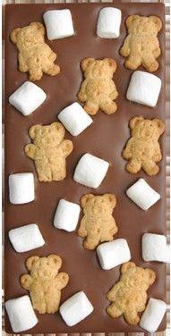 teddy grahams marshmellows and chocolate bar smores recipe - Google Search