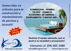 Somos líder en articulos para la construcción y el mantenimiento de piscinas y jacuzzis!  Krugar S.A. todo para su piscina!  #jacuzzis #piscinas #ecuador #guayaquil #gye #enviogratis #vialacosta #viasamborondon