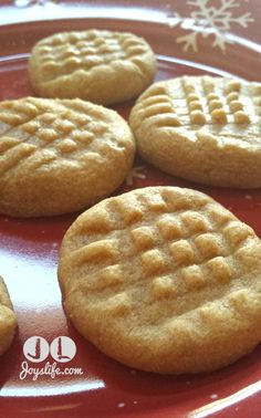 3 Ingredient No Flour Peanut Butter #Cookies #Recipe