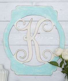 Unfinished Lantern Frame Initial Wall Art