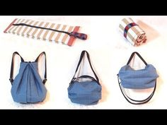 折りたたみ 3way バッグの作り方 / Fold-able 3 way Bag Tutorial Japanese Sewing Patterns, Diy Bags Purses, Craft Bags, Diy Sewing Projects, Summer Bags, Love Sewing, Backpack Bags, Bag Making, Fashion Bags