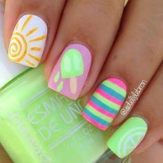 Яркий летний маникюр (41 фото) - Дизайн ногтей