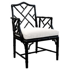 Jonathan Adler Chippendale Arm Chair Black #zincdoor #chair #bamboo
