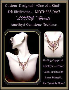Birthstone jewelryamethyst jewelryMother by ArtistiCreationsRose Sister Jewelry, Best Friend Jewelry, Jewelry For Her, Heart Jewelry, Heart Necklaces, Amethyst Jewelry, Birthstone Jewelry, Grandmother Jewelry, Grandmother Gifts