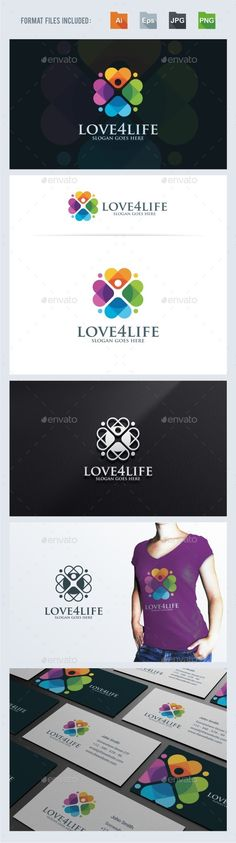 Buy Love For Life Logo Template by BeLoveArt on GraphicRiver. Love For Life Logo TemplateLogo is made with vectors for easy resizing and customizing – all texts can be rewritten e. Logo Design Template, Logo Templates, Hope Logo, Logo Gallery, Medical Logo, Flower Logo, Education Logo, Kids Logo, Logo Color