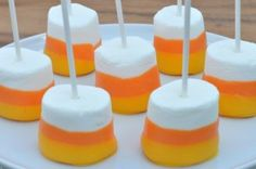 halloween marshmallow treats | Halloween treats always taste better on a stick. Using a few candy ...