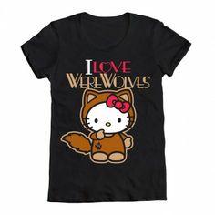 Welovefinetees Hello Kitty - HK Imprinted I Love Werewolves