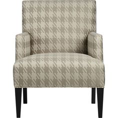 Men's apparel prints are going to be big in home accents this season.  Like this Crate  Barrel Chair