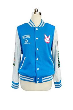 0e2752e66c7c DAZCOS Spring for D.Va Print Long Sleeve Blue Coat Cosplay Jacket at Amazon  Women's Clothing store: