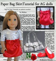 Paper Bag Skirt for American Girl Dolls | Sew Adollable