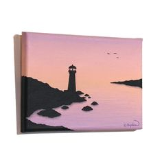 creative ideen Lighthouse at Dawn Original Art small acrylic painting of a morning seascape Acrylic Painting Ideas Acrylic acrylic painting ideas Art creative DAWN Ideen lighthouse Morning Original Painting Seascape Small Diy Art Painting, Small Canvas Art, Canvas Drawings, Amazing Art Painting, Art Painting Acrylic, Diy Canvas Art Painting, Painting Art Projects, Diy Canvas Art, Cute Canvas Paintings